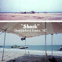 Tent on Shackleford Banks